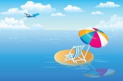 海岛孤立 免版税库存图片