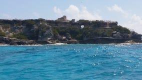 海岛寺庙 库存照片