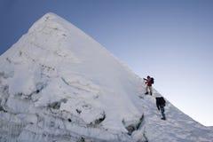 海岛尼泊尔高峰山顶 库存图片