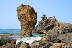 海岛岩石 免版税库存照片