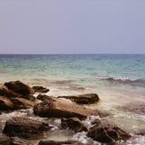 海岛岩石  免版税库存图片