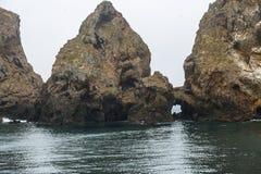 海岛岩石 库存照片