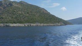 海岛岸小船视图 影视素材