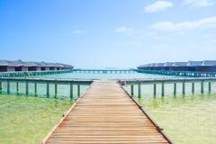 海岛度假村的水平房在Ma延伸到盐水湖 图库摄影