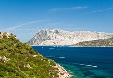 海岛意大利olbia撒丁岛tavolara 免版税图库摄影