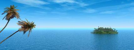 海岛掌上型计算机 图库摄影