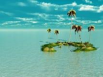 海岛掌上型计算机 库存照片
