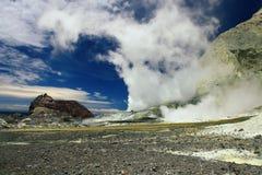 海岛新的火山白色西兰 免版税库存照片