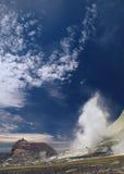 海岛新的火山白色西兰 免版税库存图片