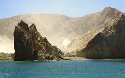 海岛新的火山白色西兰 库存图片