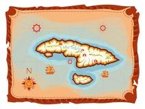海岛映射珍宝 免版税库存照片
