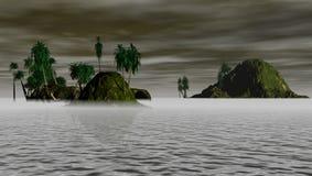 海岛晚上 免版税库存图片