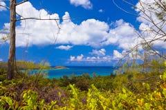 海岛普拉兰岛-塞舌尔群岛风景 免版税库存图片