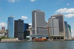 海岛曼哈顿nyc南部的技巧 免版税库存图片