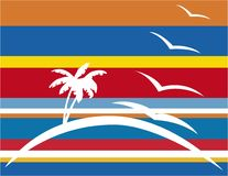 海岛棕榈树 免版税库存图片