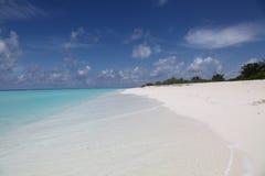 海岛横向马尔代夫 免版税库存图片