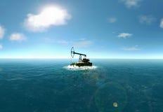 海岛油泵 库存照片