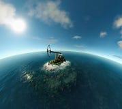 海岛油泵 图库摄影
