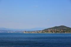 海岛海希腊 库存照片