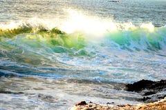 海岛海浪 图库摄影