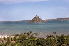 海岛海湾美丽的海湾在北马达加斯加 库存照片