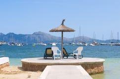 海岛海视图 免版税库存照片