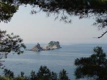 海岛海运 免版税库存照片