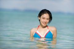 海岛游泳 免版税库存图片