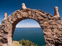 海岛湖taquile titicaca 免版税库存图片