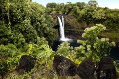 海岛瀑布 免版税图库摄影