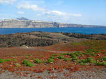 海岛火山 免版税图库摄影