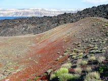 海岛火山 库存图片