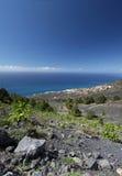海岛火山la的palma 免版税库存图片