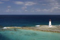 海岛灯塔天堂 库存图片