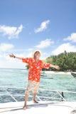 海岛热带假期 免版税库存照片