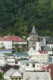 海岛热带村庄 库存图片