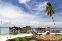 海岛热带村庄 库存照片