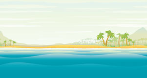 海岛热带的棕榈树 图库摄影