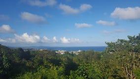 海岛热带视图 库存图片