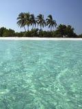 海岛热带马尔代夫的天堂 免版税库存图片