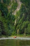 海岛用筏子运送河泰国的普吉岛 库存照片