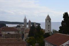 海岛用途raba的四个塔 免版税库存图片