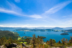 海岛由kvinnherad环境美化-在挪威valen 图库摄影