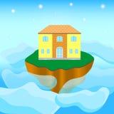 海岛的之家 免版税库存照片
