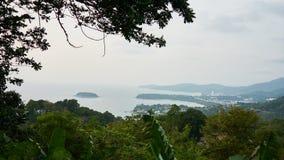 海岛的全景 免版税图库摄影