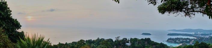 海岛的全景 库存图片