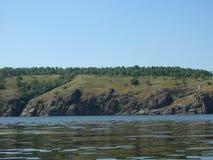 海岛的看法有树的 库存照片
