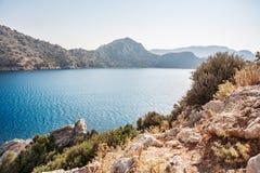 海岛看法在地中海 火鸡 免版税库存照片