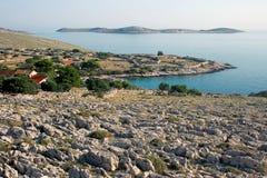 海岛科纳提群岛,克罗地亚 免版税库存图片
