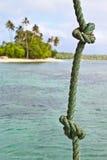 海岛绳索 库存图片